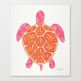 Sea Turtle – Melon Palette Canvas Print