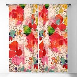 joyful floral decor Blackout Curtain