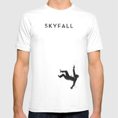 Skyfall White MEDIUM Mens Fitted Tee