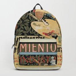 Vintage Art Nouveau expo Barcelona 1896 Backpack