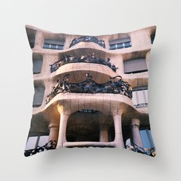 Casa Milá - La Pedrera BCN Throw Pillow