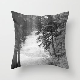 Crashing Through Trees Throw Pillow