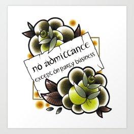 No Admittance Art Print
