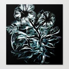 Flowers In Green Canvas Print