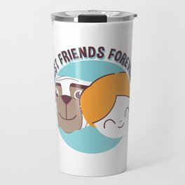 Best Friends Forever Kid and Dog Travel Mug