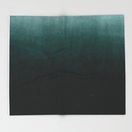 Ombre Emerald Throw Blanket