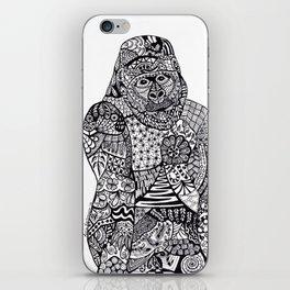Gorilla Zentangle Art iPhone Skin