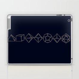 Minimal Dungeons and Dragons Dice Set Laptop & iPad Skin