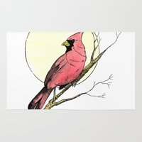 cardinal Area & Throw Rugs featuring Cardinal by Eric Weiand