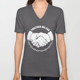 Together We Can Unisex V-Neck