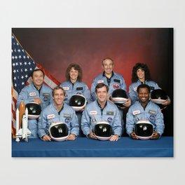 Space Shuttle Challenger Crew, November 1985 Canvas Print