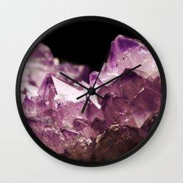 Amethyst Quartz Wall Clock
