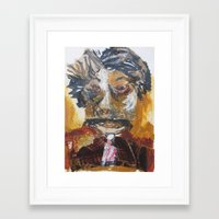 dentist Framed Art Prints featuring My dentist by June O'Connell