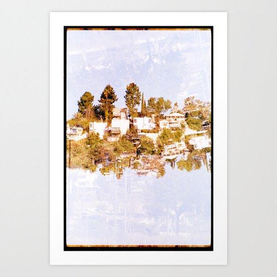 islands 1 (35mm multi exposure) Art Print