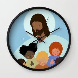 Jesus Loves All Children Wall Clock
