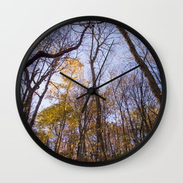 Out of the Woods - Fall Forest Photography Wall Clock