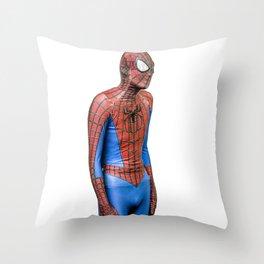 Spider-man Needs Friends Throw Pillow