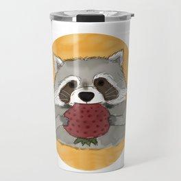 Strawberry Racoon Travel Mug