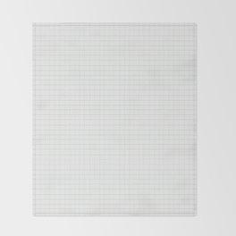 Greyscale Grid Throw Blanket