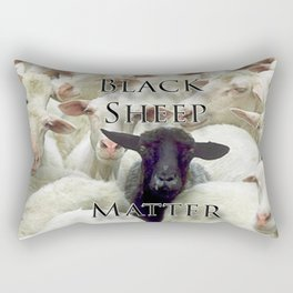 Black Sheep Matter Rectangular Pillow