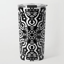 Polish Papercut Dancers Black Travel Mug