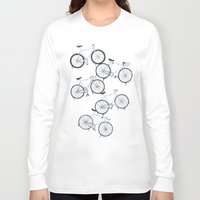 bikes Long Sleeve T-shirts featuring BIKES YO! by TMSYO