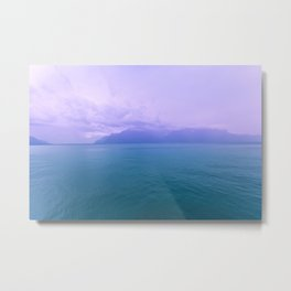 Wild Nature with Lake and Mountains Metal Print