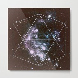 Galaxy Sacred Geometry dark Metal Print