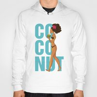 coconut wishes Hoodies featuring Coconut by KAA illustration