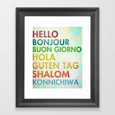 Multi Cultural Framed Art Print