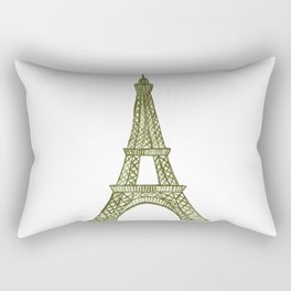 Eiffel tower GOLD / La tour Eiffel - PAINTED Rectangular Pillow