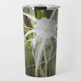 God's design white flower Travel Mug