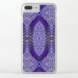 Snake Skin (purple/violet) Clear iPhone Case