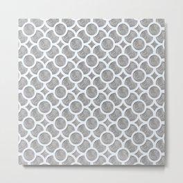 Circular Trellis - Grey Pencil Metal Print