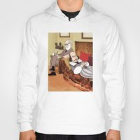 shakespeare Hoodies featuring Freud analysing Shakespeare by Studio Drawgood