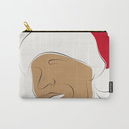 Christmas time, red hat, santa hat, black santa, afro santa, xmas  bells Carry-All Pouch