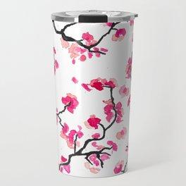 Japanese Cherry Blossoms Travel Mug