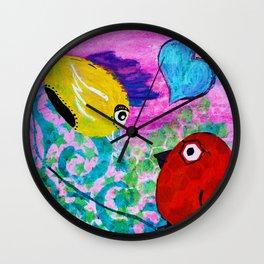 Love Birds - Quirky Birds Series Wall Clock