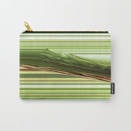Green Strips Abstract Carry-All Pouch