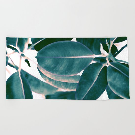 Tropical abstract(7). Beach Towel