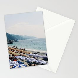 Sunbathers in Cinque Terre Stationery Cards