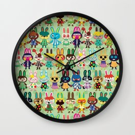 Rabbit Crossing Wall Clock