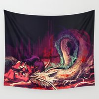 dragon ball z Wall Tapestries featuring Bleed by Alice X. Zhang