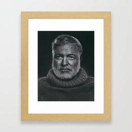 Earnest Ernest Hemingway Framed Art Print