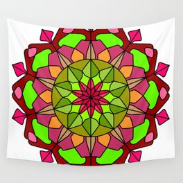Peace and Love Mandala Wall Tapestry