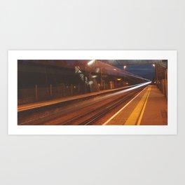 Midnight Train Art Print