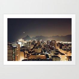 Rio by night Art Print