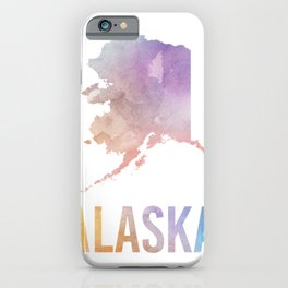 Watercolor State - AK iPhone Case