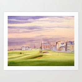 St Andrews Golf Course Scotland 17th Green Art Print