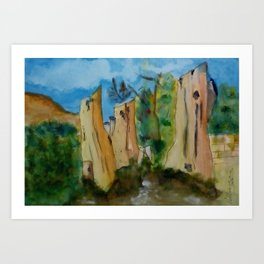 Canary Logs Art Print